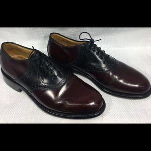 Johnston & Murphy Mulberry Black Oxford Dress Shoe